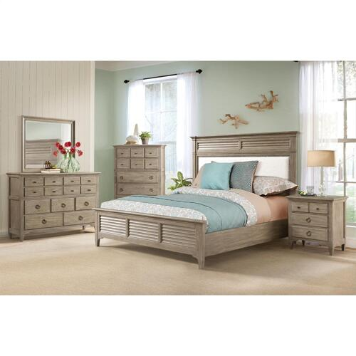 Myra - King/california King Louver Footboard - Natural Finish