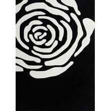 Durable Hand Tufted Transition TF6 Area Rug by Rug Factory Plus - 2' x 3' / Black/White