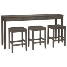 Caitbrook Sofa Table and 3 Stools