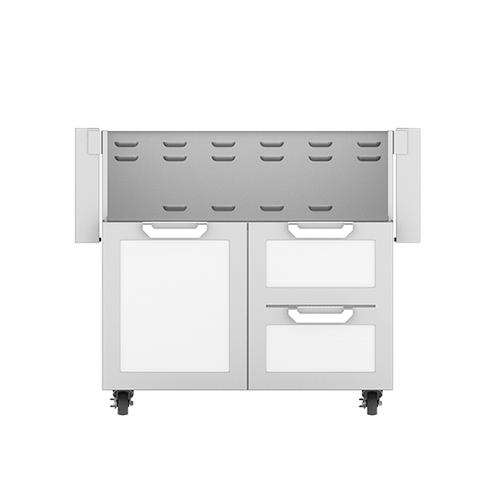 """Hestan - 36"""" Hestan Outdoor Tower Cart with Door/Drawer Combo - GCR Series - Froth"""