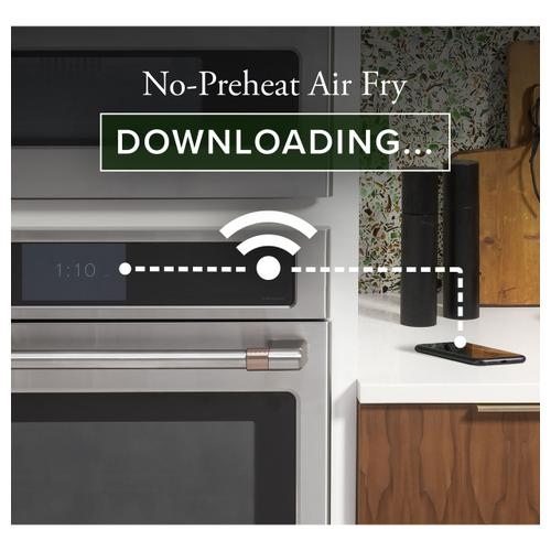"""Cafe - Café™ 27"""" Smart Double Wall Oven with Convection in Platinum Glass"""