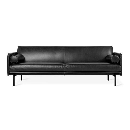 Foundry Sofa New Saddle Black Leather / Black