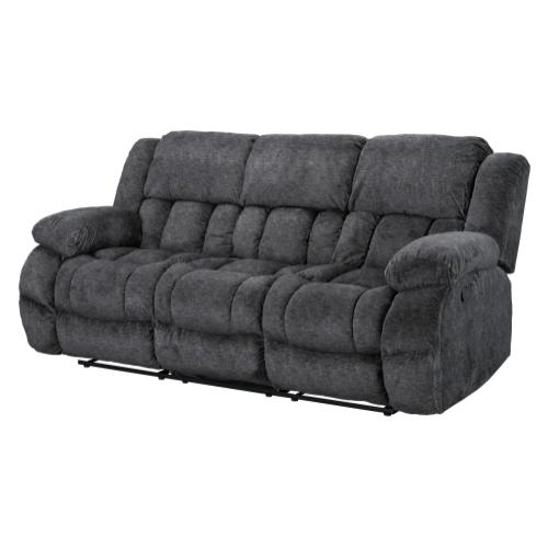 Seymore Manual Motion Reclining Sofa with Drop Table, Grey