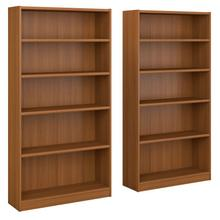 Universal Bookcases 5 Shelf Bookcase Set of 2 - Royal Oak