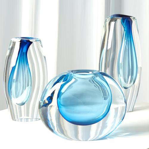 Offset Vase-Light Blue-Lg