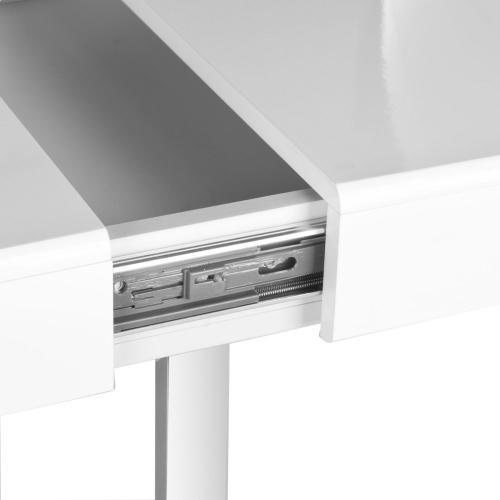 Berkley Desk - White / Chrome