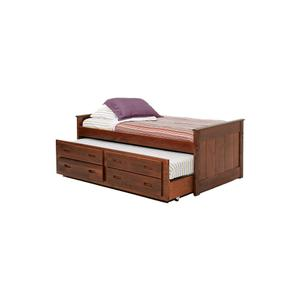 American Wholesale Furniture - Twin Captains Bed w/Trundle & Drawer