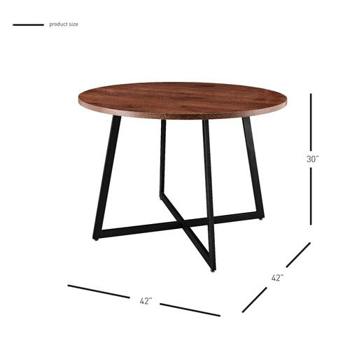 "Courtdale KD 42"" Round Table, Gliese Brown"