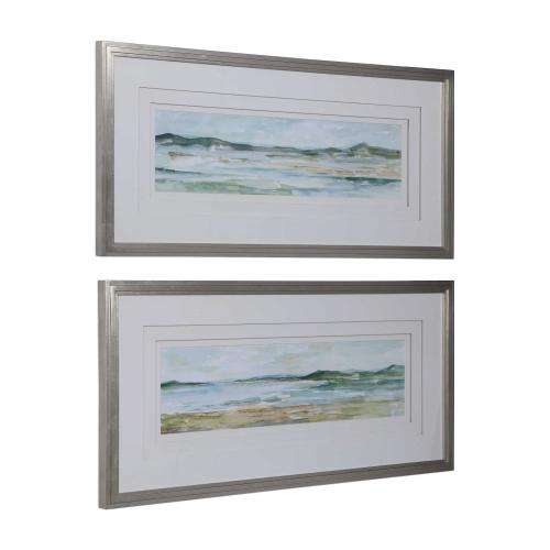 Panoramic Seascape Framed Prints, S/2