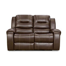Cambridge Clark Double Reclining Loveseat in Umber, 98503DRL-UM