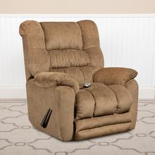 Massaging Temptation Fawn Microfiber Rocker Recliner with Heat Control