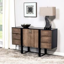 "Aries Credenza, 60"", Black Base"