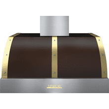 Hood DECO 36'' Brown matte, Gold 1 blower, electronic buttons control, baffle filters