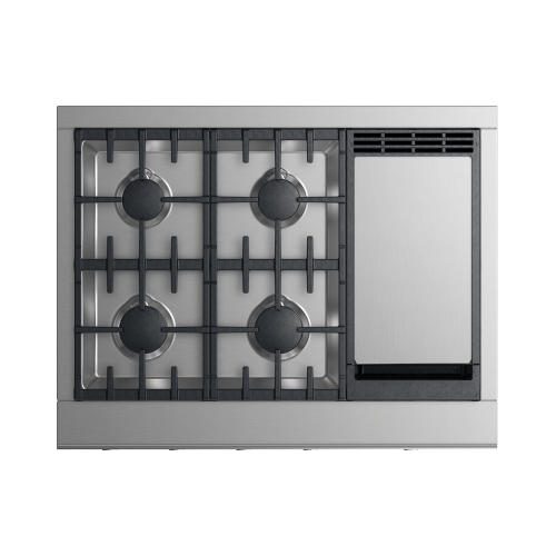 """Fisher & Paykel - Gas Rangetop, 36"""", Griddle"""
