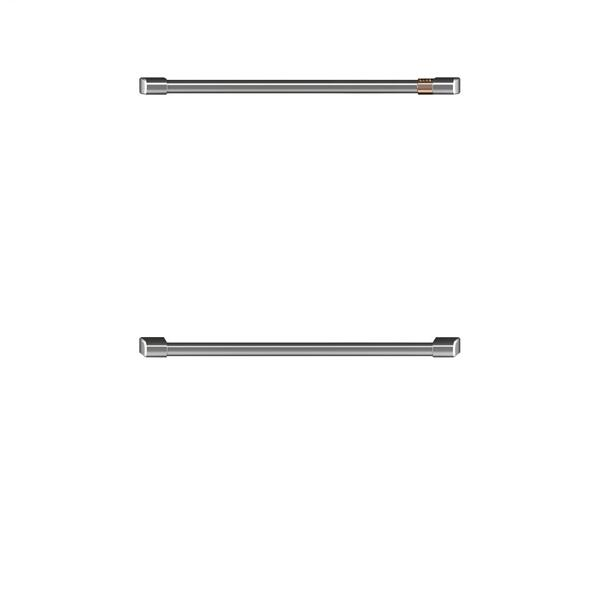 "Café 2 - 30"" Double Wall Oven Handles - Brushed Stainless"