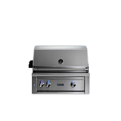 "30"" Lynx Professional Built In Grill with 1 Trident and 1 Ceramic Burner and Rotisserie, NG"