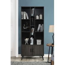 "See Details - 2014 DARK ESPRESSO Faux Wood Book Shelves - 75"" H"