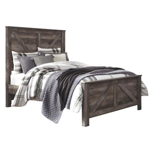 Queen Crossbuck Panel Bed With Dresser