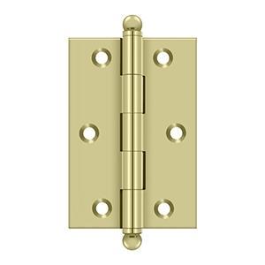 "Deltana - 3"" x 2"" Hinge, w/ Ball Tips - Unlacquered Brass"