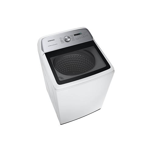 Samsung - 5.0 cu. ft. Top Load Washer with Super Speed in White