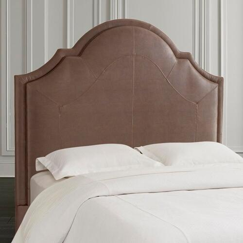 Custom Uph Beds Paris Queen Arched Bed, Footboard High, Insert Type Tufted