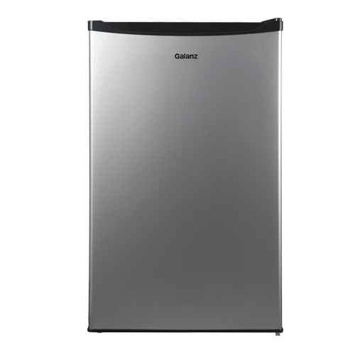 Galanz - Galanz 4.3 Cu Ft Mini Refrigerator in Black Stainless Steel Look
