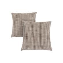 "PILLOW - 18""X 18"" / LIGHT / DARK BROWN ABSTRACT DOT/ 2PCS"