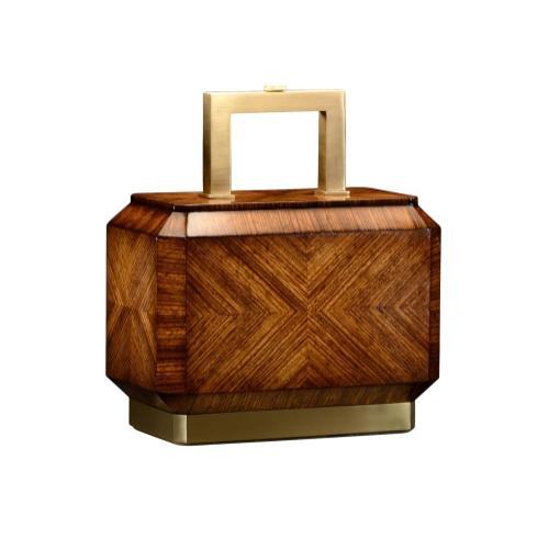 Tea Caddy Zebrano Table Lamp Base