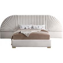 "Cleo Velvet Bed - 86.5"" W x 163"" D x 55"" H"