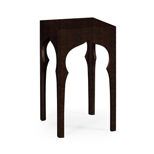 Square lamp table (Ebonised)
