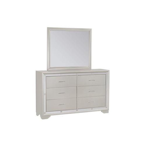 Lorenzo Silver 6-Drawer Dresser, Silver