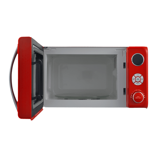 Galanz 0.7 Cu Ft Retro Microwave Oven in Hot Rod Red