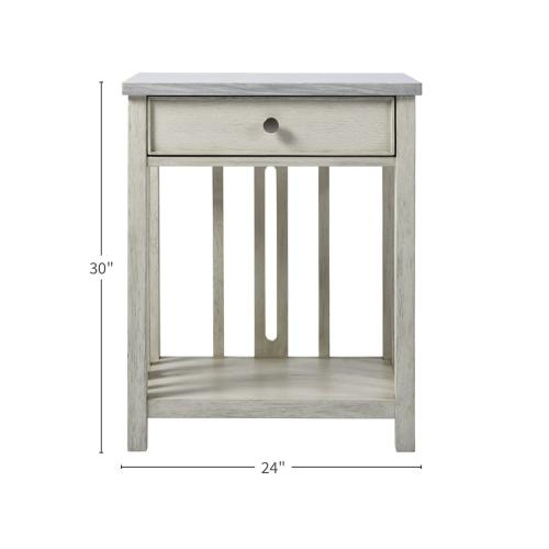 Universal Furniture - Bedside Table with Stone Top