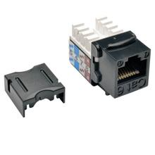 See Details - Cat6/Cat5e 110 Style Punch Down Keystone Jack - Black, 10-Pack, TAA