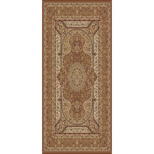 "Persian Design 1.5 Million Point Heatset Tabriz 3916 Area Rug by Rug Factory Plus - 5'4"" x 7'5"" / Rose"