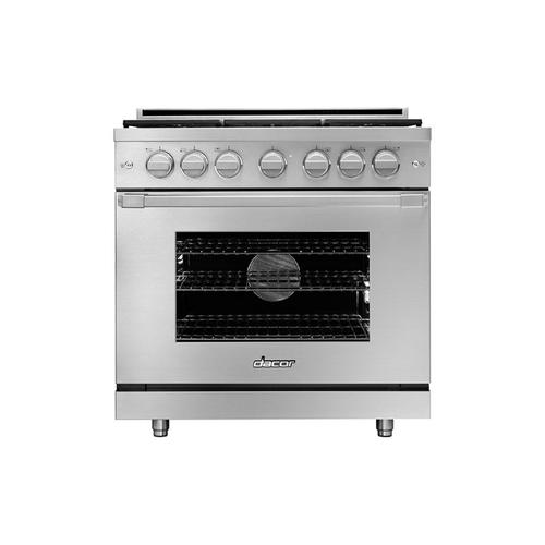 "36"" Heritage Gas Pro Range, Silver Stainless Steel, Natural Gas/High Altitude"
