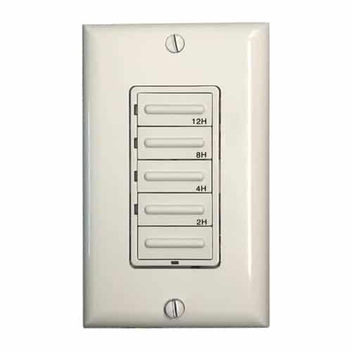Hardwired Countdown Timer - White  Ivory  Light Almond