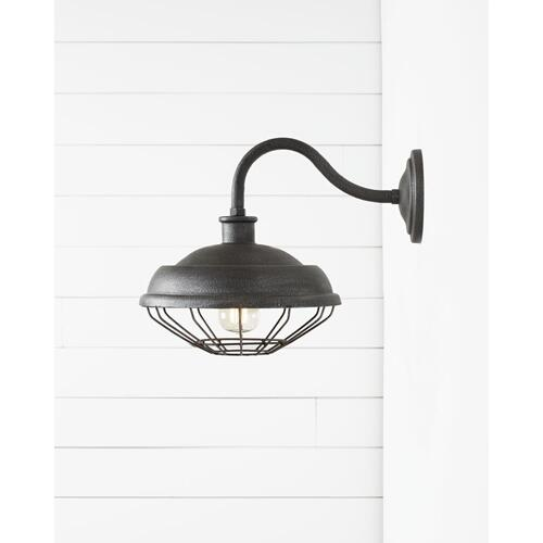 Lennex Round Plate Lantern Slate Grey Metal