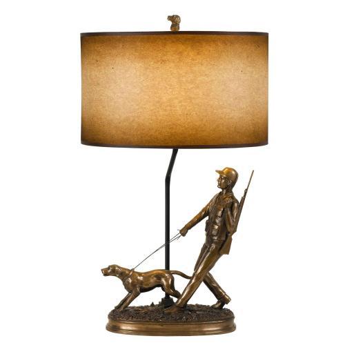 Cal Lighting & Accessories - 150W Hunter Resin Table Lamp