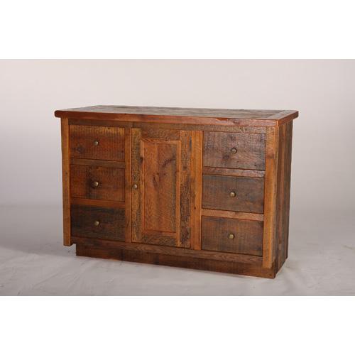Green Gables Furniture - Stony Brooke 6 Drawer 1 Door Vanity With Wood Top