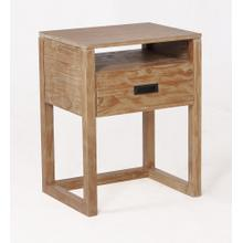 See Details - Vadstena Solid Wood Night Stand - Almond