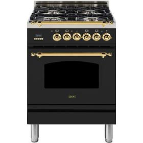 "24"" Inch Matte Graphite Natural Gas Freestanding Range"