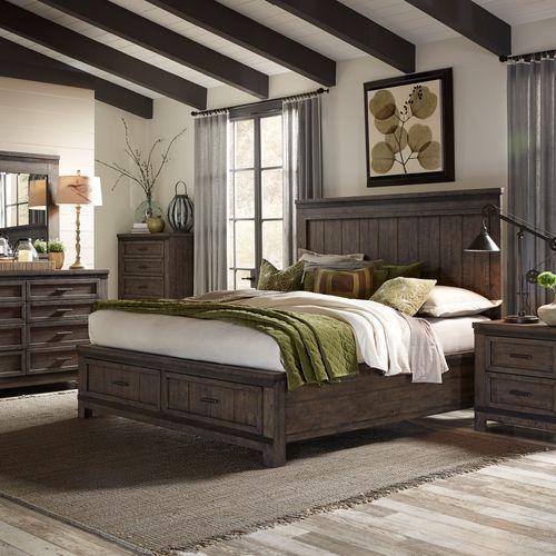 Liberty Furniture Industries - Queen Storage Bed, Dresser & Mirror, Night Stand