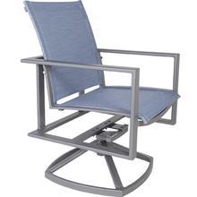Sling Swivel Rocker Arm Chair