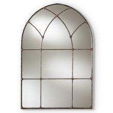 See Details - Baxton Studio Tova Vintage Farmhouse Antique Silver Finished Arched Window Accent Wall Mirror