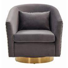 Clara Quilted Swivel Tub Chair - Slate Grey