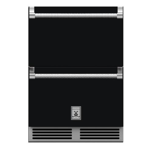 "24"" Hestan Outdoor Refrigerator Drawers - GRR Series - Stealth"