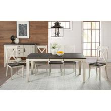 7 PIECE SET (EXTENSION TABLE AND 6 SIDE CHAIRS)