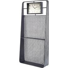 Larch Rectangular Industrial Wall Clock