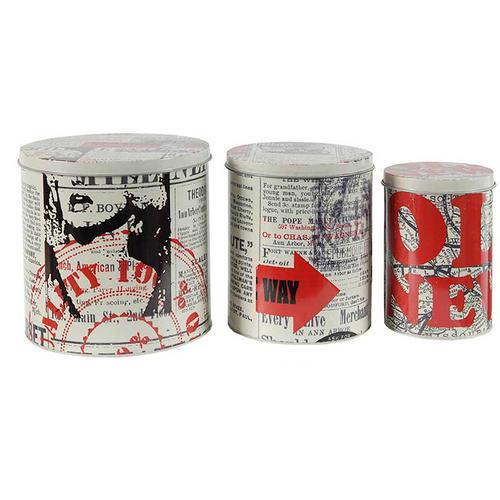 S/3 Decorative Tin Boxes
